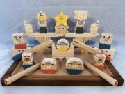 木のおもちゃ知育玩具、コロポコ積木パズル(スーパー)