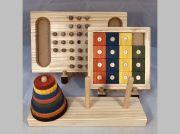 木のおもちゃ脳トレ、パズル・ゲーム3点セットND