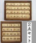アルファベット大文字&小文字と洋数字&漢数字のブロックパズル2点セット