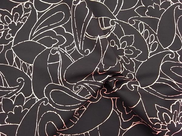 イタリア製輸入生地 【AGNONA/アニオナ社】 ピュアウール/抽象柄プリント/ワンピース着分2.3m