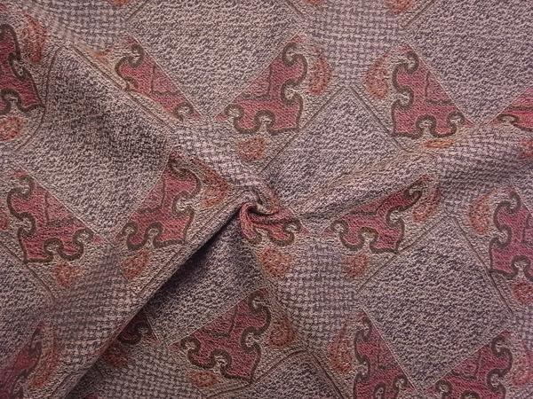 イタリア製輸入生地 【シルクウール】 /幾何学柄ジャガード織/1着分2.3m
