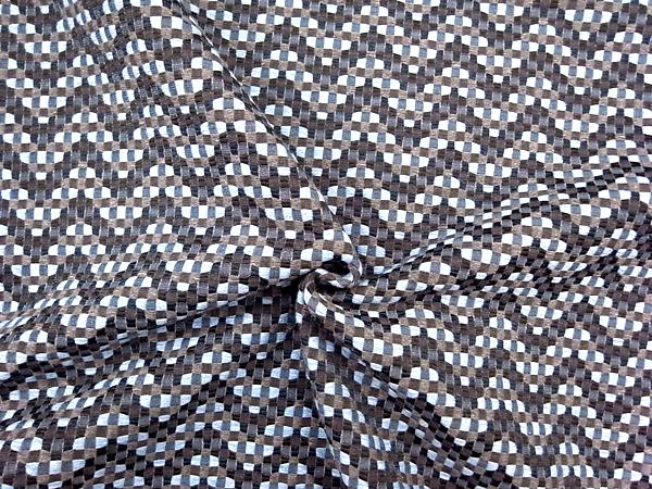 イタリア製輸入生地 【ARMANI/アルマーニ社使用】 コットン×ウール/幾何学ツィード織/ノースリーブワンピース着分1.3