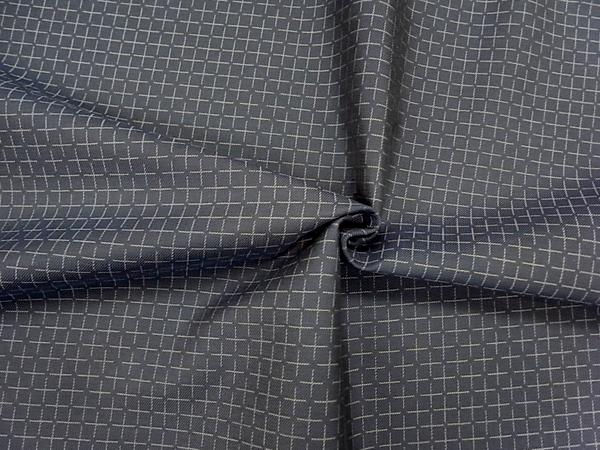 イタリア製輸入生地【ARMANI/アルマーニ社使用】ウール×レーヨン/変わりジャガード織チェック/0.1m(10cm)単位