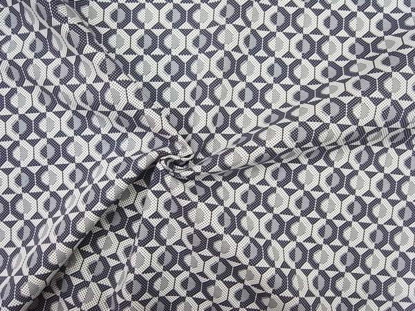 イタリア製輸入生地 【RATTI社】 ピュアコットン/幾何学プリント/0.1m(10cm)単位