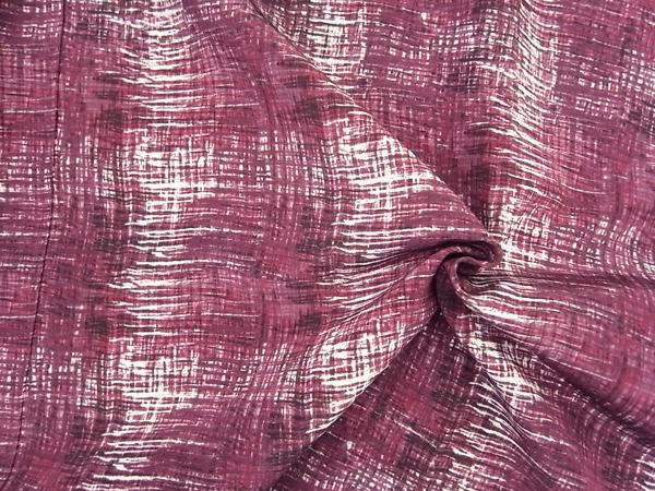 イタリア製輸入生地 【一流ブランド使用】ピュアシルク/変形スクエアプリント/0.1m (10cm)単位