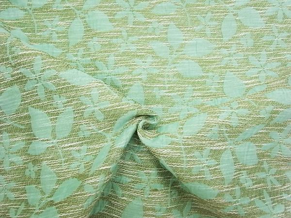 イタリア製輸入生地 【コットン混】 花柄ジャガード織/1着分2.6m