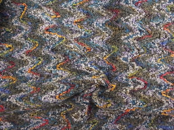 イタリア製輸入生地 【ウール混】 ニット風タッチ織り/1着分2.5m