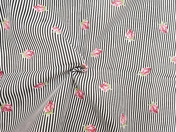 イタリア製輸入生地 【mila schon/ミラショーン】 ピュアシルクデシン/小花柄プリント/1着分3パネル(3.9m)