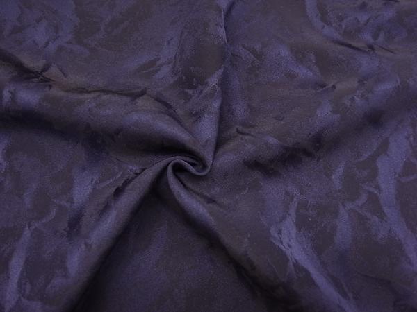 イタリア製輸入生地 【ピュアシルク】 /花柄ジャガード織/パープルカラー/1着分3,9m