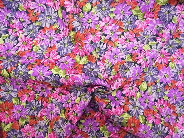 イタリア製輸入生地 【シルクウール】 /花柄プリント/1着分3.9m