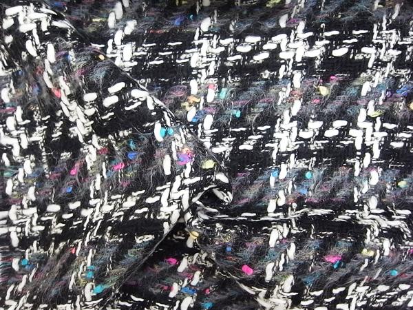 英国製輸入生地 【ピュアウールツィード】 カラーネップ×チェック柄/1着分2.4m