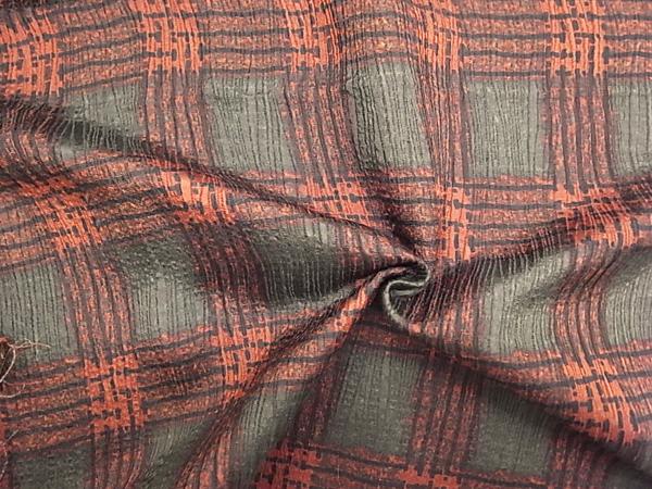 イタリア製輸入生地 【シルクウール】 /チェック柄プリントジャガード織/1着分2.3m