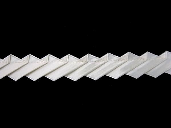 日本製・MOKUBA社 サテン・バイアスプリーツ 0.1m (10cm)単位