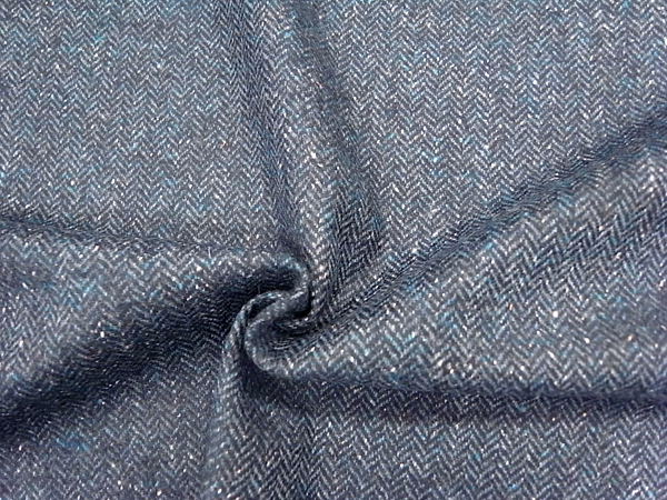 イタリア製輸入生地 【一流ブランド使用】 ピュアウール/ヘリンボーン織り/ワンピース着分1,6m