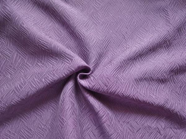 日本製生地 【ヘビーシルクフクレ織り】 京紫色/1着分3.7m