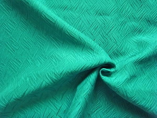 日本製生地 【ヘビーシルクフクレ織り】 翡翠ひすい色 /1着分3.7m