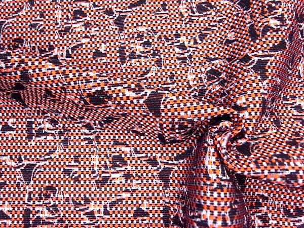 イタリア製輸入生地 【一流ブランド使用】 ウールベースジャガード織/ワンピース着分1.7m
