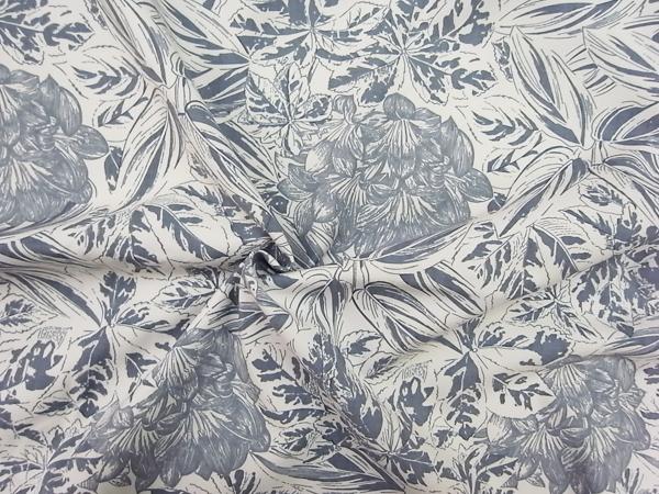 イタリア製輸入生地 【AGNONA/アニオナ社】 ピュアウール/花柄プリント/ワンピース着分2.0m