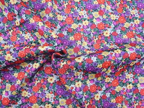 イタリア製輸入生地 【ウールボイル】 花柄プリント/ワンピース着分2.2m