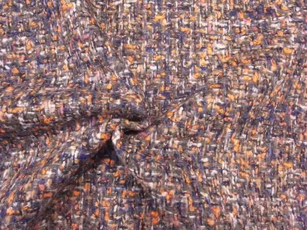 英国製輸入生地 【DORMEUIL/ドーメル社】 ピュアウール/ファンシーツィード/0.1m (10cm)単位
