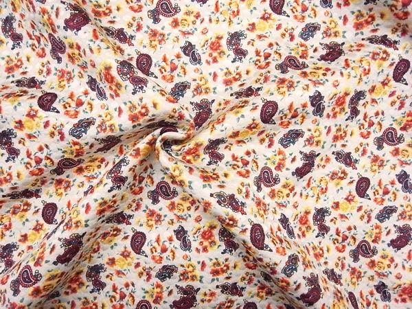 フランス製輸入生地 【T.J.S.S社】シルクウール/ジャガード織り/ワンピース着分1.4m