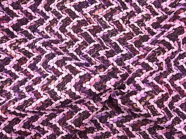 イタリア製輸入生地 【カラミ織り】リボンヤーン /ワンピース着分1.5m
