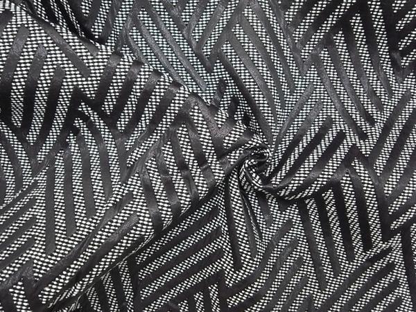 イタリア製輸入生地 【ポリエステル×ナイロン】 幾何学模様柄ジャガード織/ワンピース着分1.6m