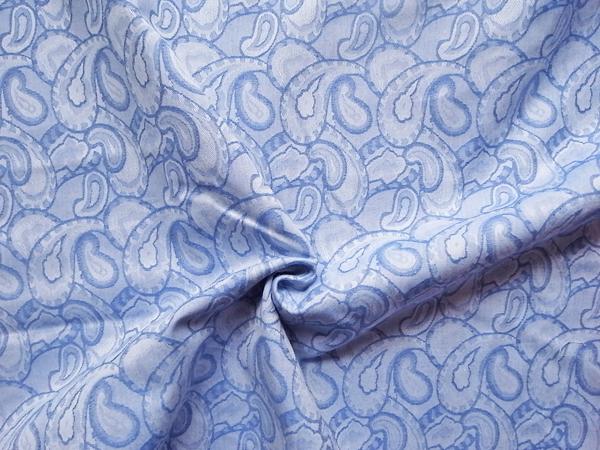 イタリア製輸入生地 【ピュアコットン】 ペーズリー柄織/ワンピース着分1.4m