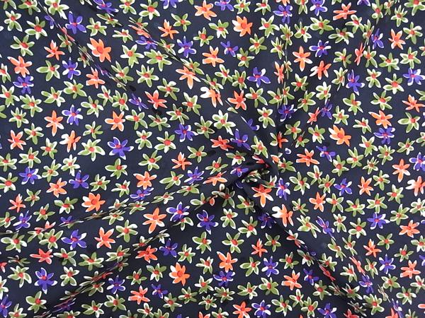 イタリア製輸入生地 【ピュアシルクバックサテン】 花柄プリント/1着分2.4m