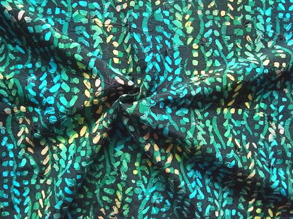 日本製生地 【ピュアシルク刺繍】 和染め/1着分3.7m