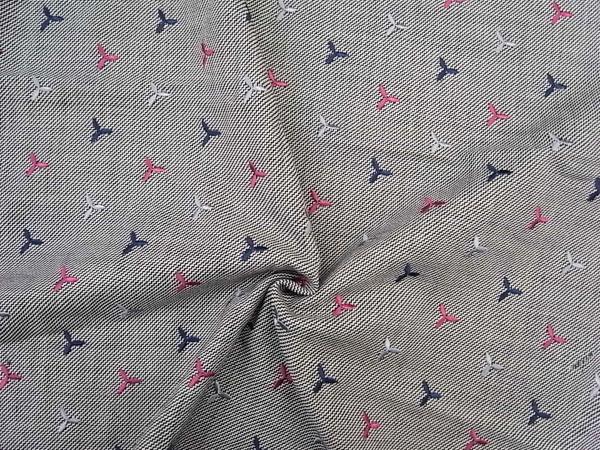 イタリア製輸入生地 【ピュアウール】 小花風刺繍/スカート着分1.0m