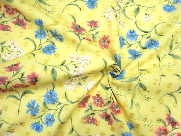 イタリア製輸入生地 【コットンカットボイル】 花柄プリント/1着分2.4m