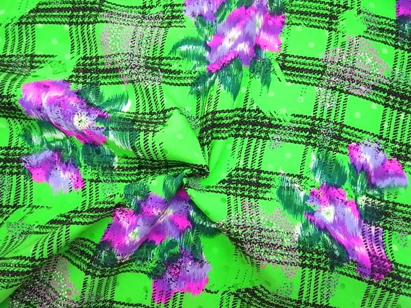 イタリア製輸入生地 【ピュアシルクデシン】 花柄プリントジャガード織/1着分2.2m