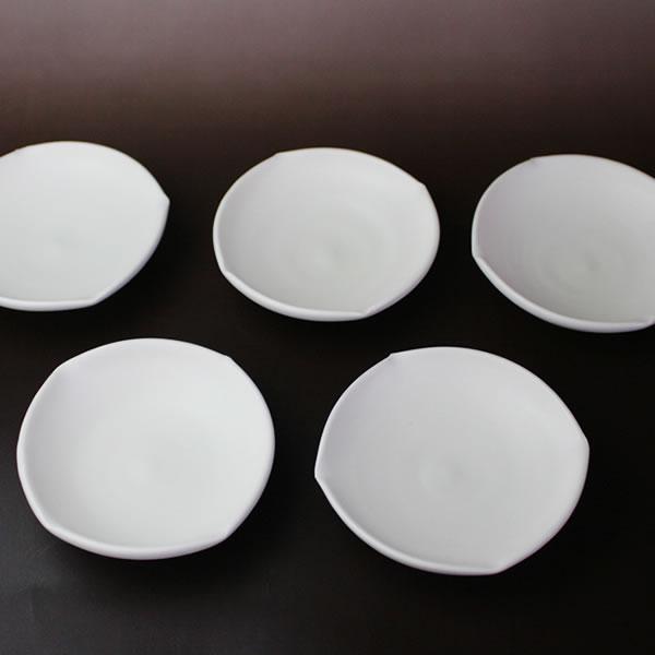 白い器 小皿 5枚組(磁器)
