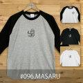 MONOMONI(モノモニ)おとなラグランTシャツ「MASARU(マサル)」