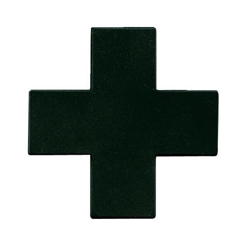 """【特価】monoオリジナルパッチ """"BLACK CROSS"""" シリコン"""
