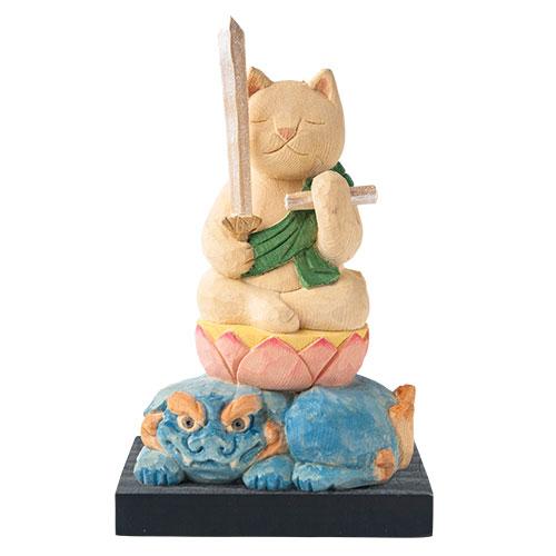 猫 buddha(ニャンブッダ) 干支 守護 本尊「文殊菩薩」