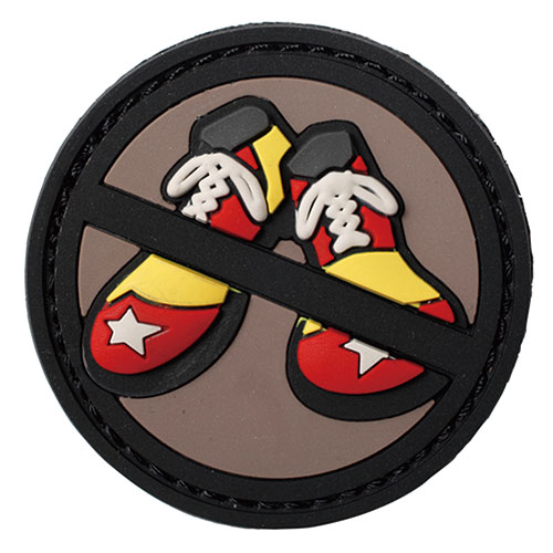 "MIL-SPEC MONKEY ""No Clown Shoes PVC"" パッチ (フルカラー)"