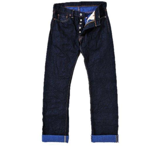 天領デニム カラーレボリューションジーンズ/ブルー タイトストレートTDP005