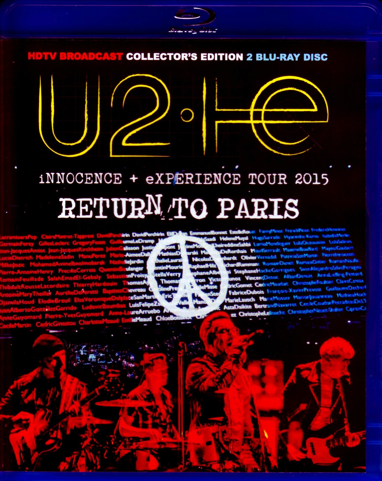 U2 ユーツー/France 12.6 & 7.2015 Blu-Ray Version