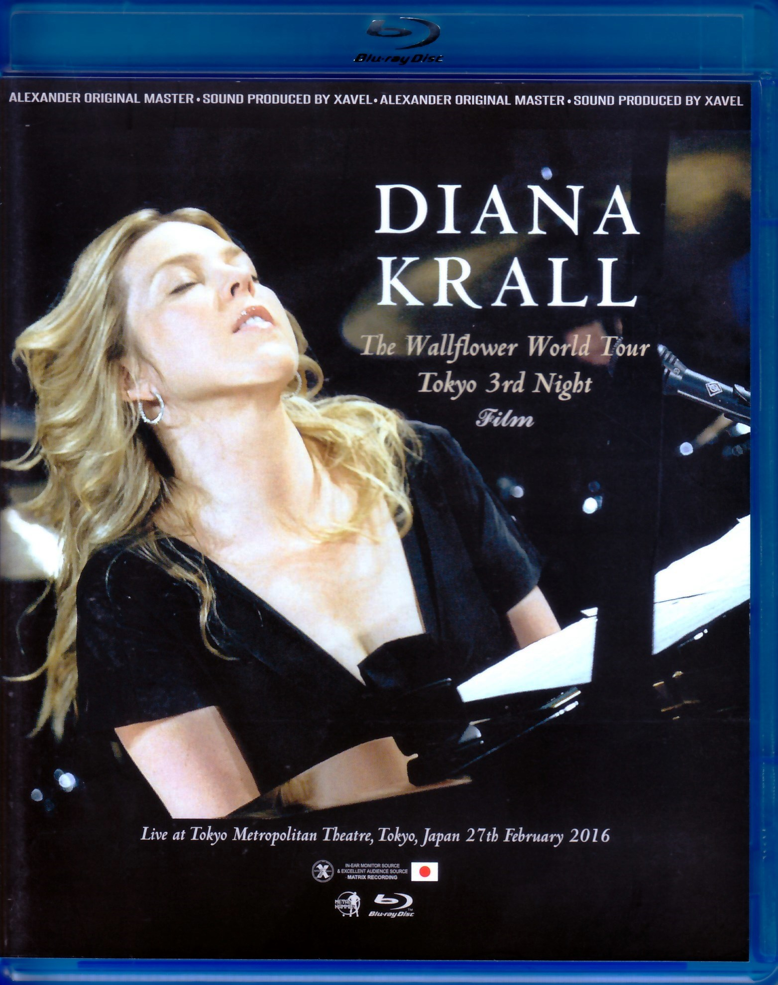 Diana Krall ダイアナ・クラール/Tokyo,Japan 2016 Blu-Ray Version