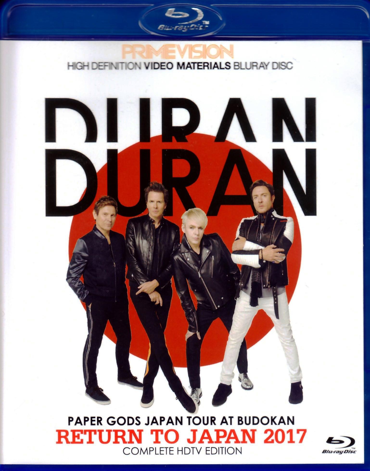 Duran Duran デュラン・デュラン/Tokyo,Japan 2017 Blu-Ray Ver