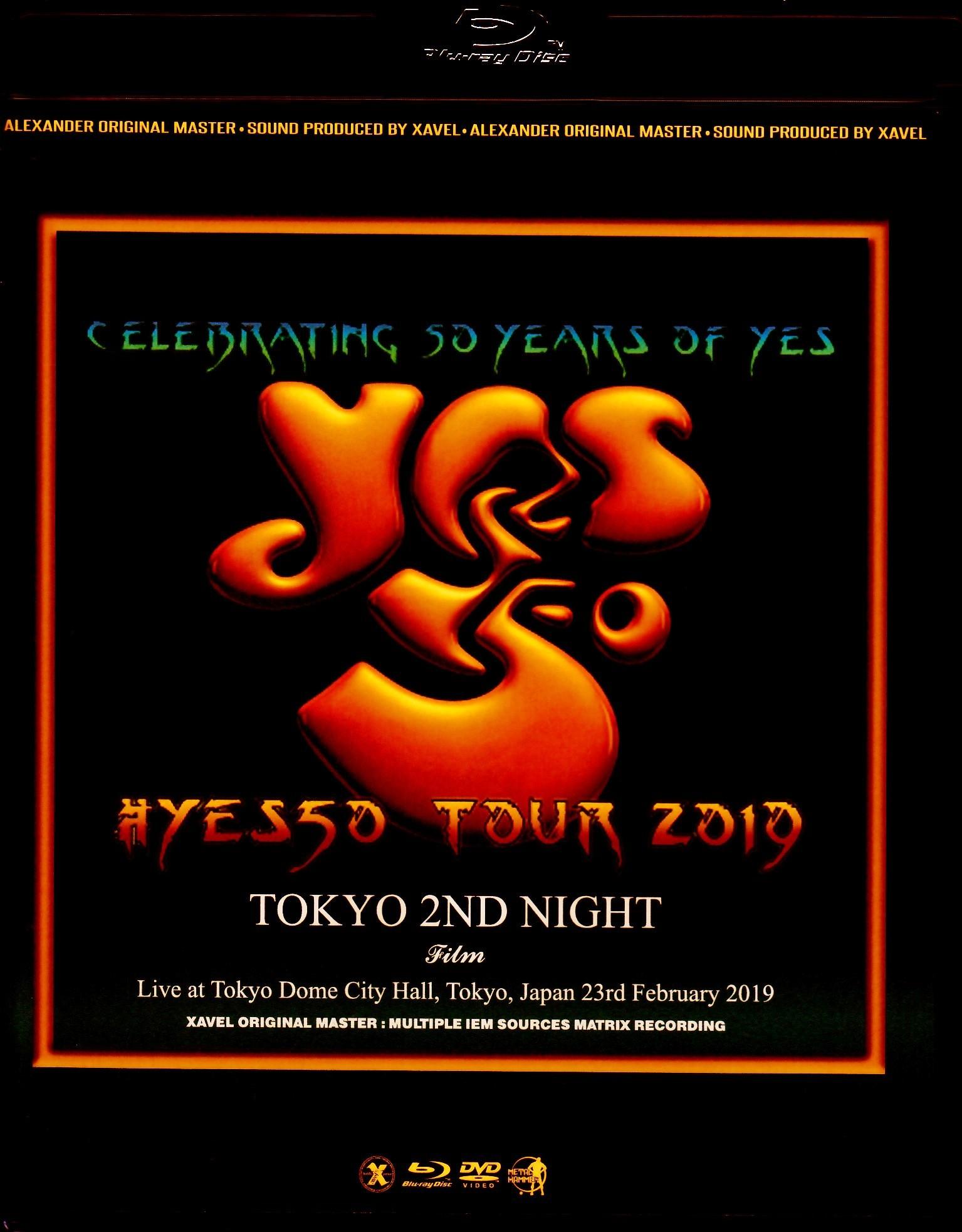 Yes イエス/Tokyo,Japan 2.23.2019 Blu-Ray & DVD Ver.