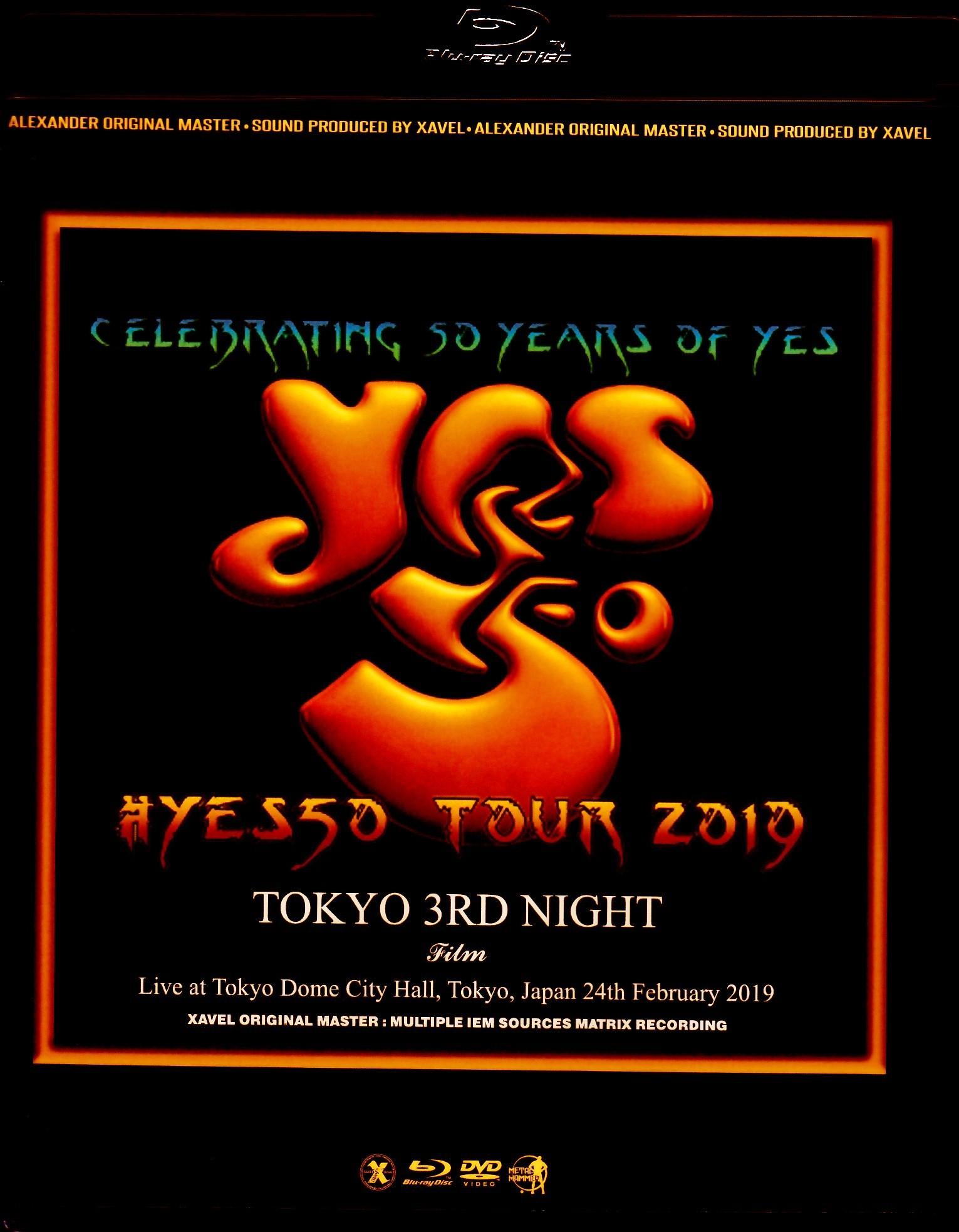 Yes イエス/Tokyo,Japan 2.24.2019 Blu-Ray & DVD Ver.