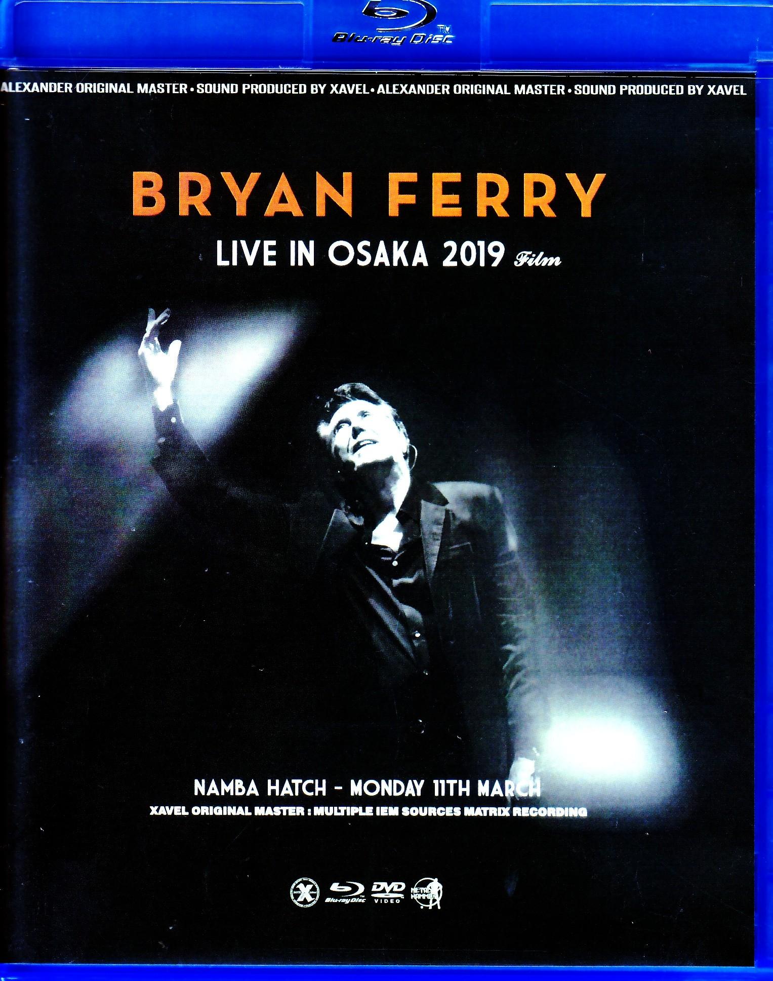 Bryan Ferry ブライアン・フェリー/Osaka,Japan 2019 Blu-Ray・DVD IEM Matrix Ver.