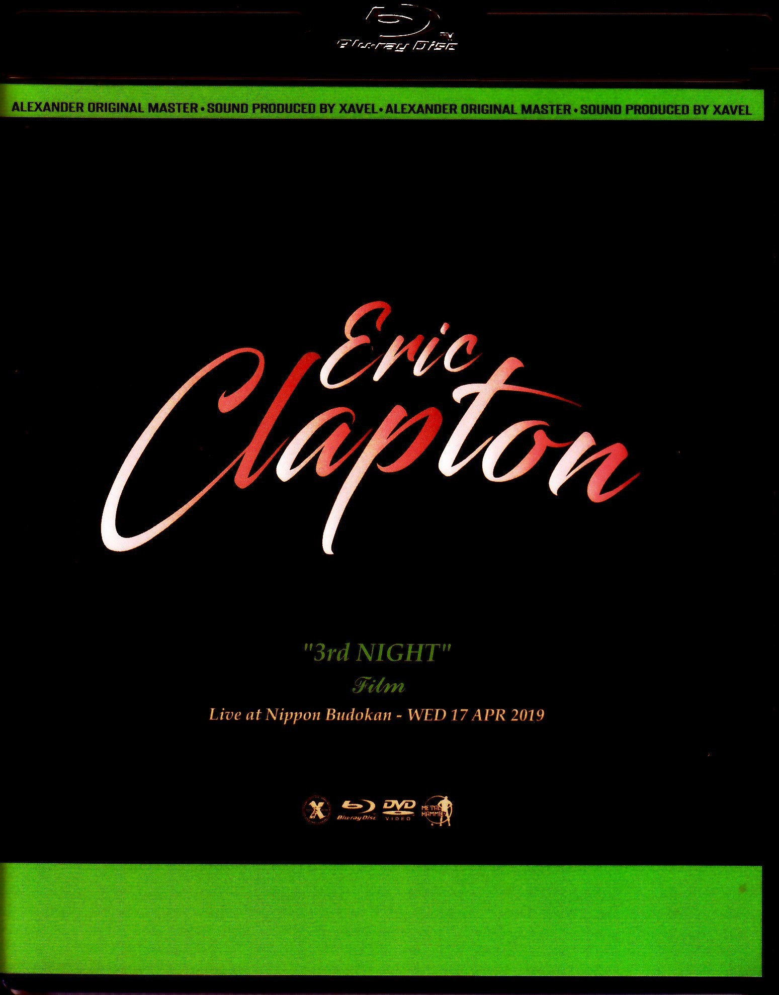 Eric Clapton エリック・クラプトン/Tokyo,Japan 4.17.2019 Blu-Ray & DVD Ver