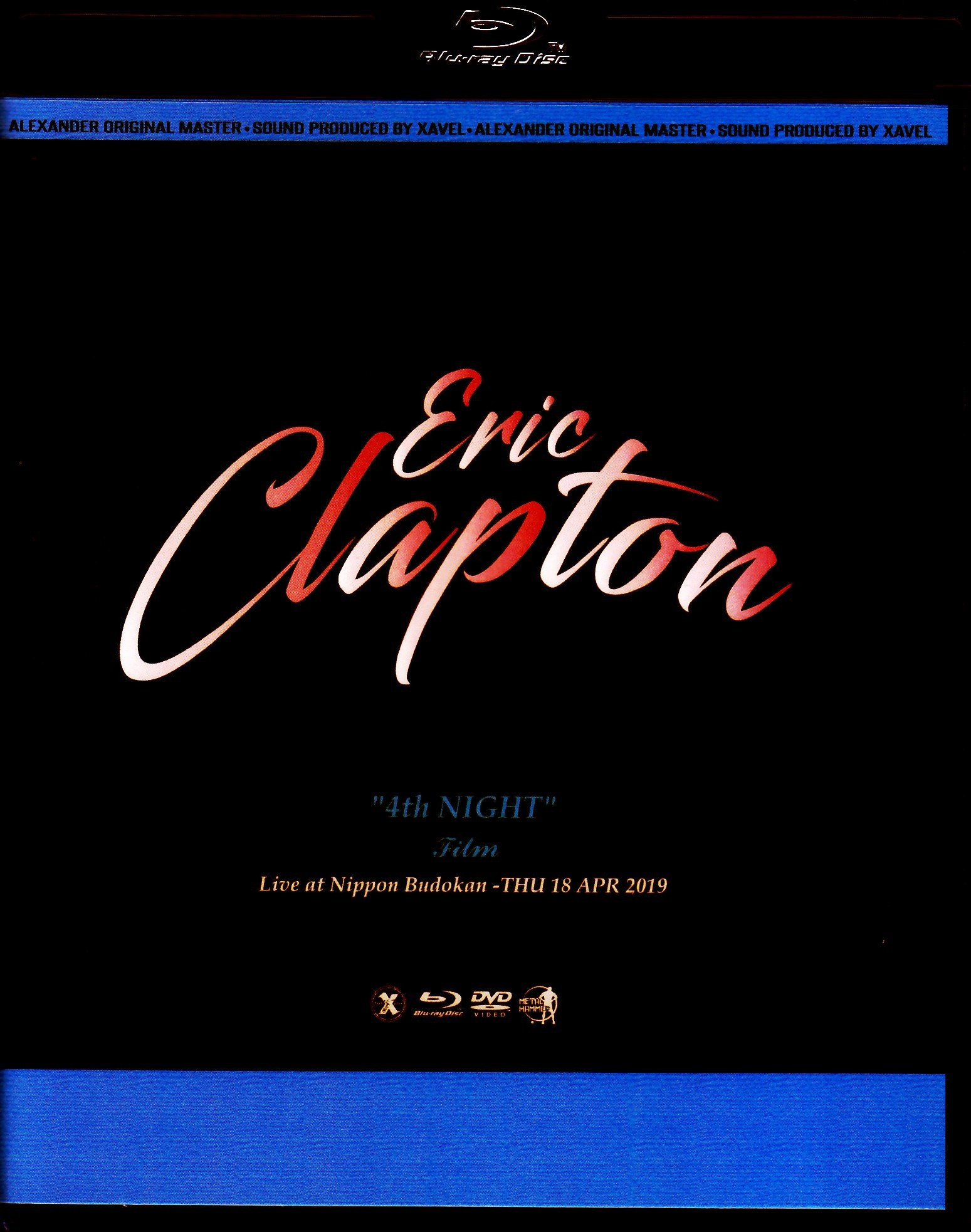 Eric Clapton エリック・クラプトン/Tokyo,Japan 4.18.2019 Blu-Ray & DVD Ver