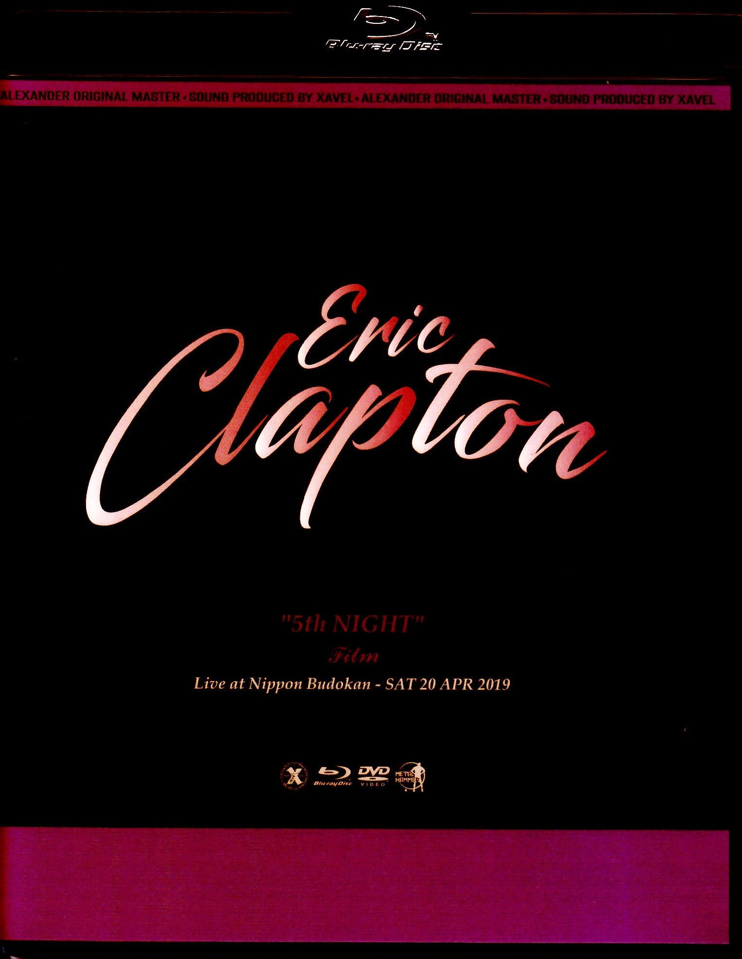 Eric Clapton エリック・クラプトン/Tokyo,Japan 4.20.2019 Blu-Ray & DVD Ver