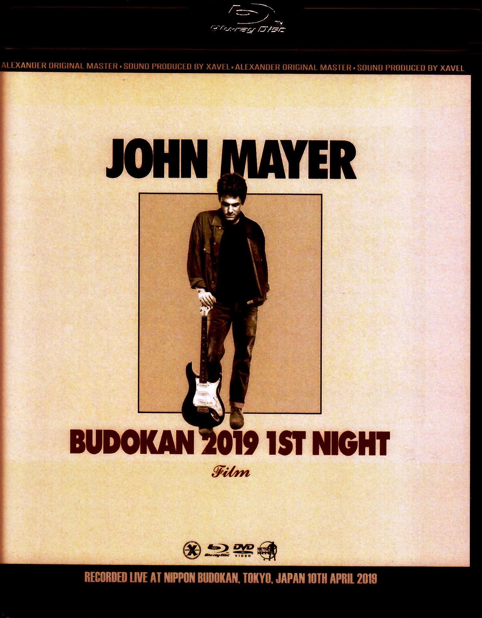 John Mayer ジョン・メイヤー/Tokyo,Japan 4.10.2019 Blu-Ray & DVD Ver.