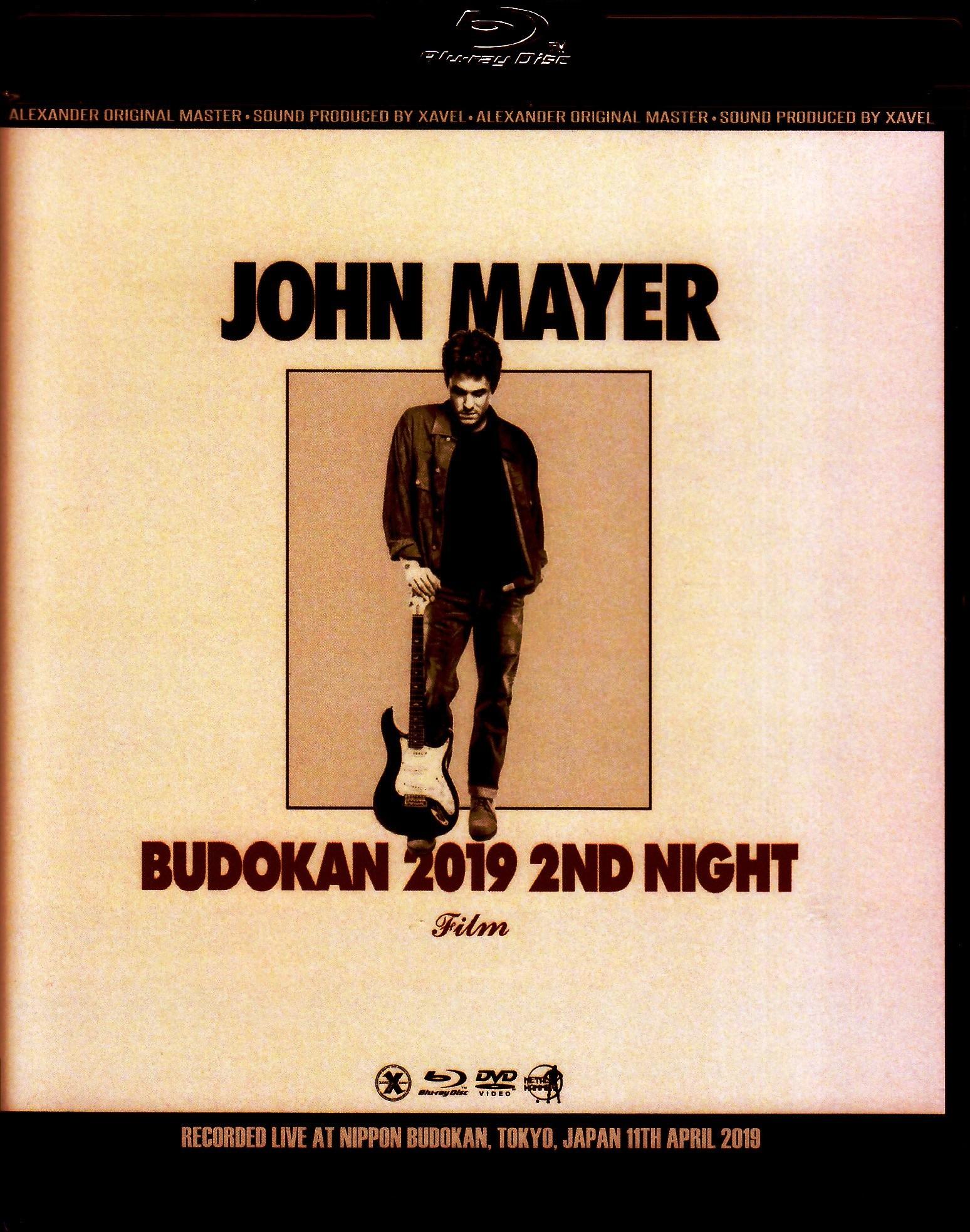 John Mayer ジョン・メイヤー/Tokyo,Japan 4.11.2019 Blu-Ray & DVD Ver